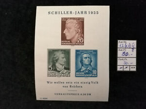 DDR-Deutsche-Demokratische-Republik-1955-MiNr-464-466-Block-12-PF-12-IV