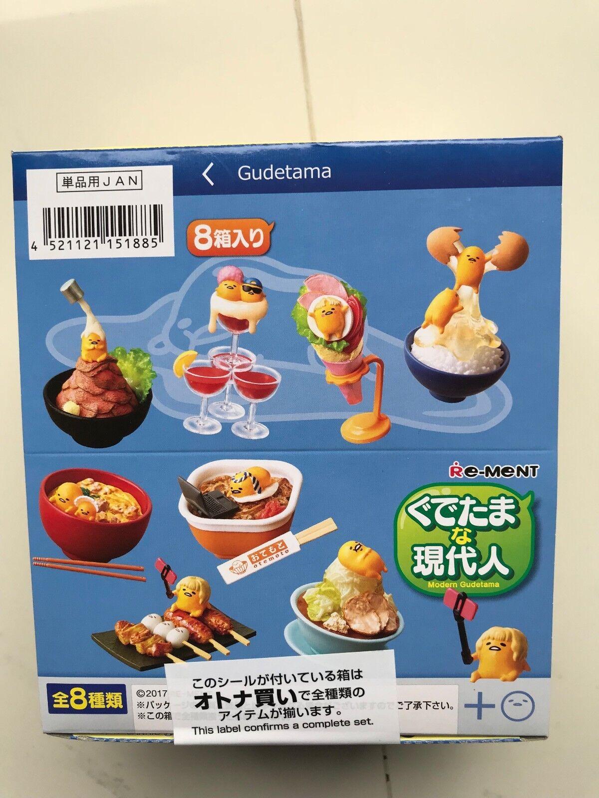 RE-MENT, GUDETAMA MODERN GUDETAMA, COMPLETE BOX, 8 PZS, NEW