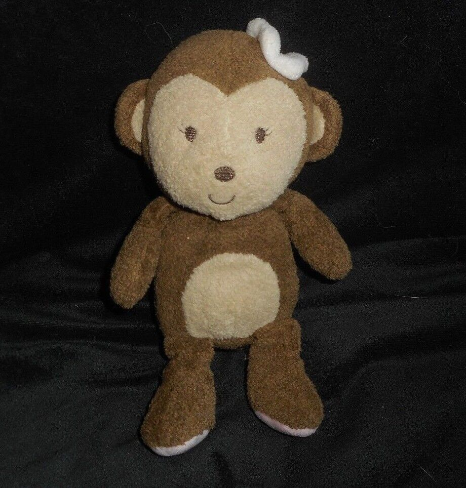 CARTER'S JUST ONE YOU braun BABY MONKEY STUFFED ANIMAL PLUSH TOY RATTLE 63015