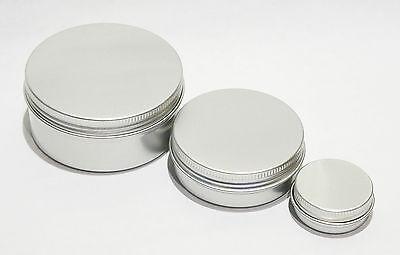3 Aluminium Tins Water / Air tight Bushcraft Storage Survival 15, 60 & 150 ml