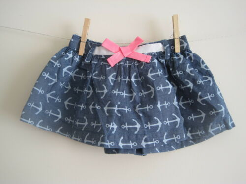 New baby girls ex US brand nautical summer skirt age 0-3 3-6 6-9 12-18 months