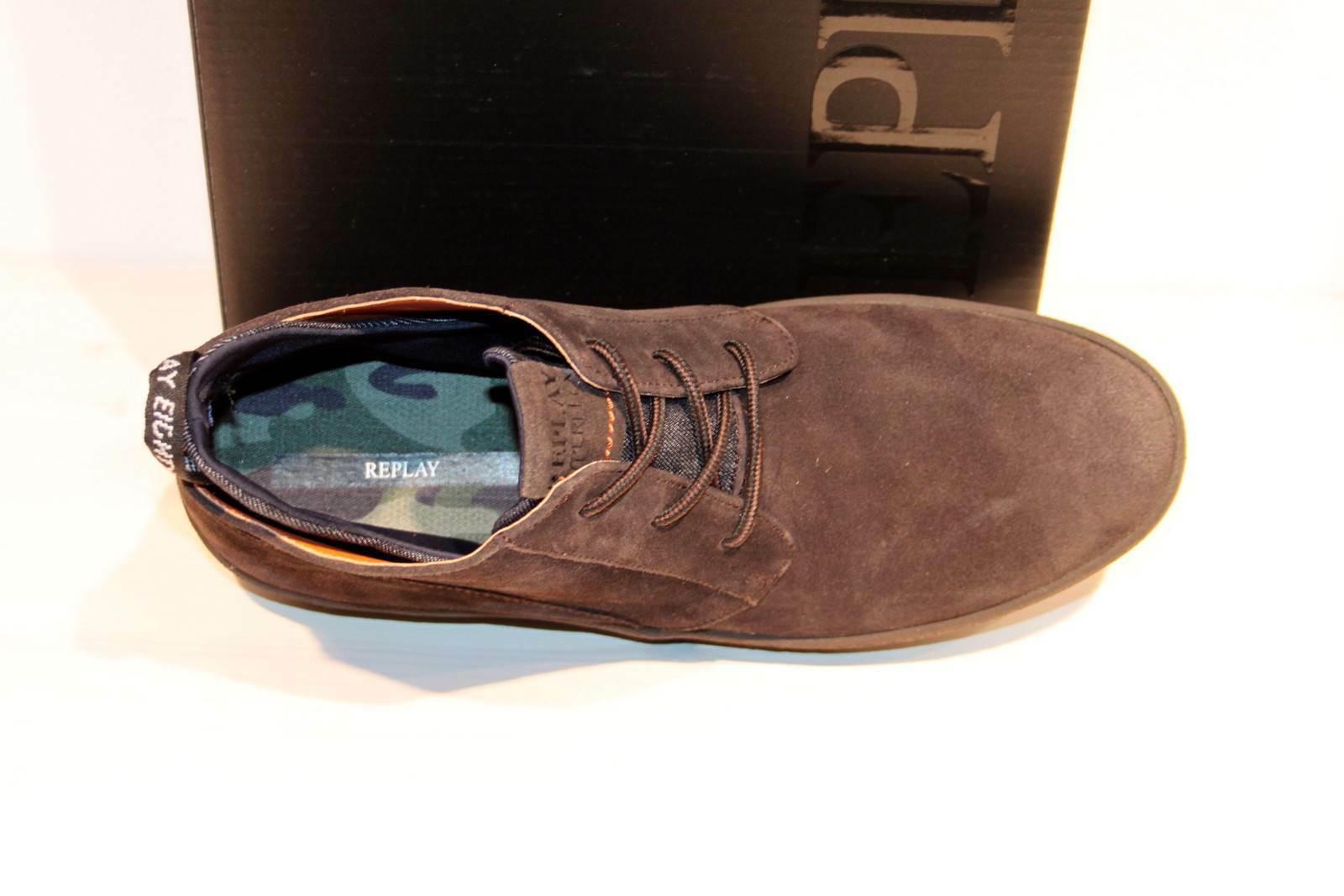 RELOAD Dark Brown Neu/&OVP! REPLAY Hyperflex Boots Wildleder Sneaker Schnürer