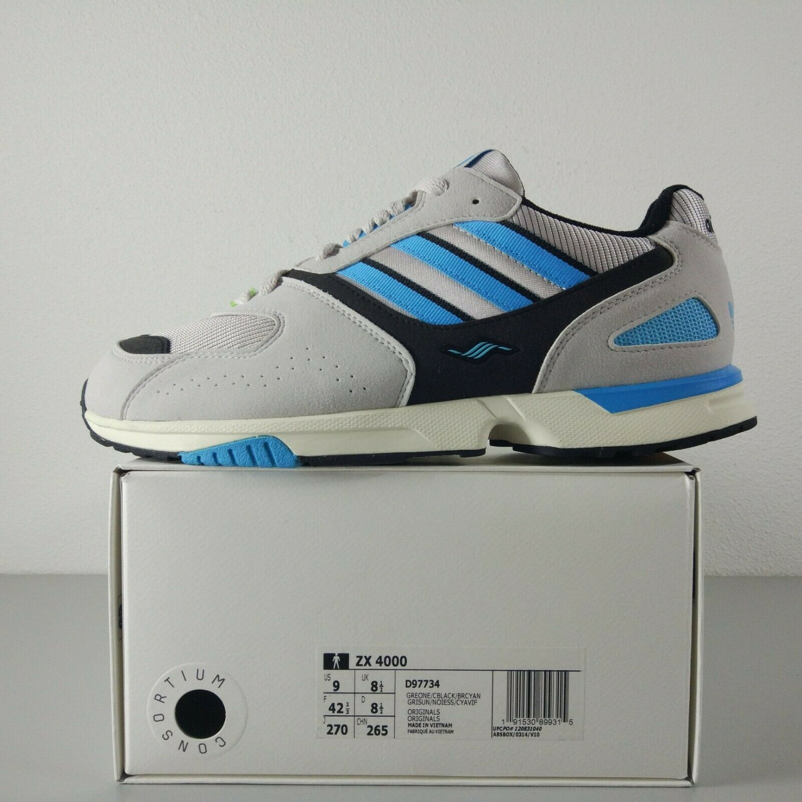 06d6304a Adidas Torsion ZX 4000 US 9 UK 8.5 Vintage OG 8000 5000 BNIB 4500 7000