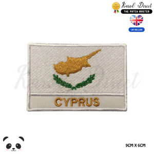 CYPRUS-National-Flag-With-Name-Embroidered-Iron-On-Sew-On-Patch-Badge