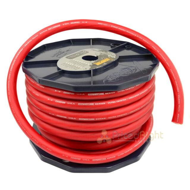 Stinger 1//0 Gauge Matte Red Power Ground Wire Car Home Audio SSVLP0R 25 FT