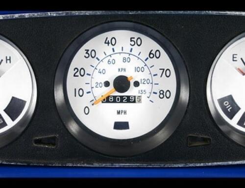 1977-1980 Chevrolet Luv Pickup White Face Gauges for Instrument Cluster 77-80