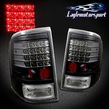 2002 2003 2004 2005 Ford Explorer Black LED Rear Brake Tail Lights Lamps Pair