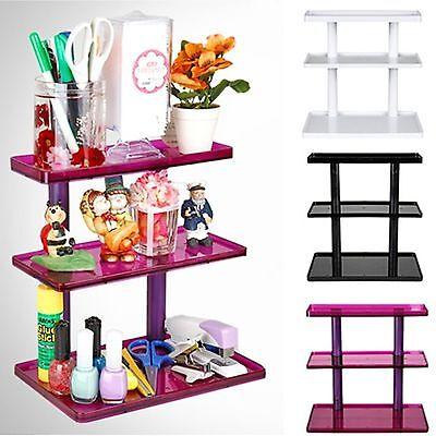 Multi arrangement rack tidy up cosmetics Organizer shelf showcase display case