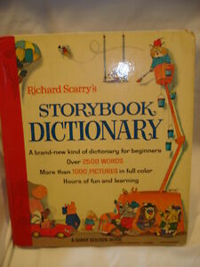 Richard scarry storybook dictionary 1966 vintage for Richard scarry coloring pages