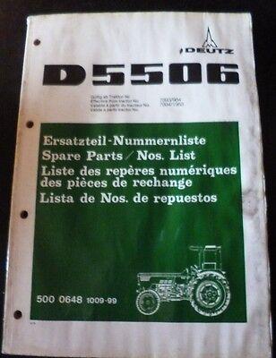 Deutz Fahr Schlepper D5506 Ersatzteil-Katalog