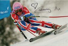 Chemmy Alcott Hand Signed 12x8 Photo British Alpine Skiing.