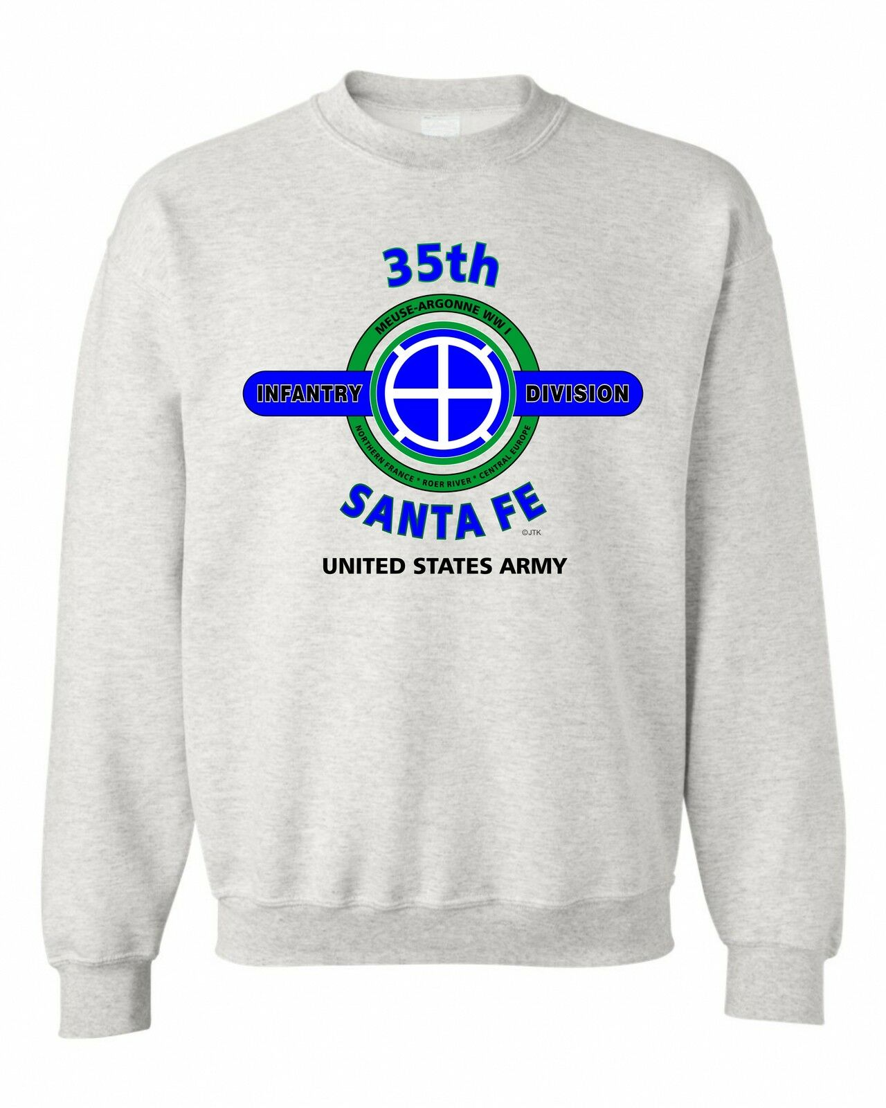 35TH INFANTRY DIVISION   SANTA FE   BATTLE & CAMPAIGN SWEATSHIRT