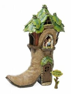 Miniature Mini Jardin Feerique Botte Maison Chaussure Welly Grand