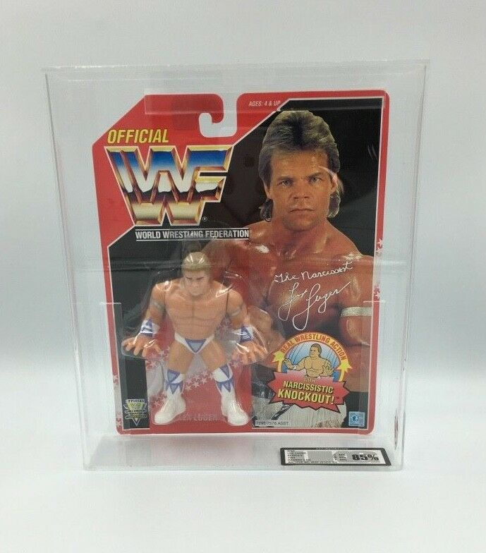 WWF Hasbro Lex Luger, Luger, Luger, Series 8, 1994 Carded Figure-UKG not AFA graded 85% - RARE f079f4