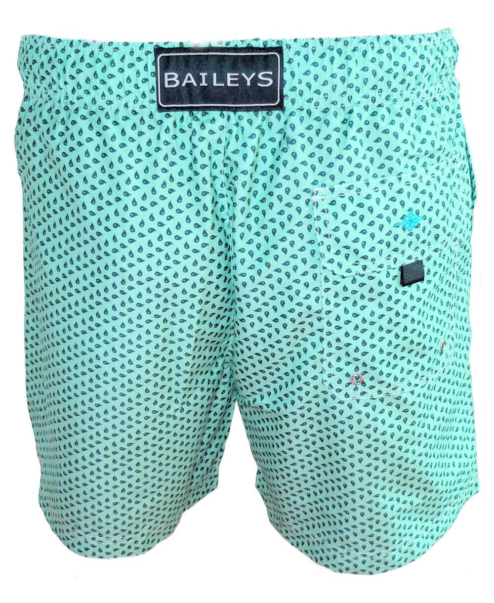Baileys Swim Short Beach in mint mit dunkelblauen Tropfen Tropfen Tropfen Gr. M bis 6XL  | Ausgezeichnetes Preis  | Optimaler Preis  | Haltbarer Service  5736d4