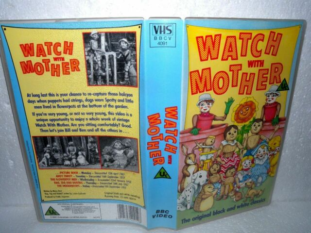 Watch With Mother - VHS Tape & case, BBC Cert Uc - Childrens Classic VHS
