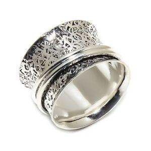 Brillant Solide Argent Sterling 925 Spinner Ring Bague Méditation Statement Ring Taille Sr924-afficher Le Titre D'origine Haute Qualité Et Bas Frais GéNéRaux