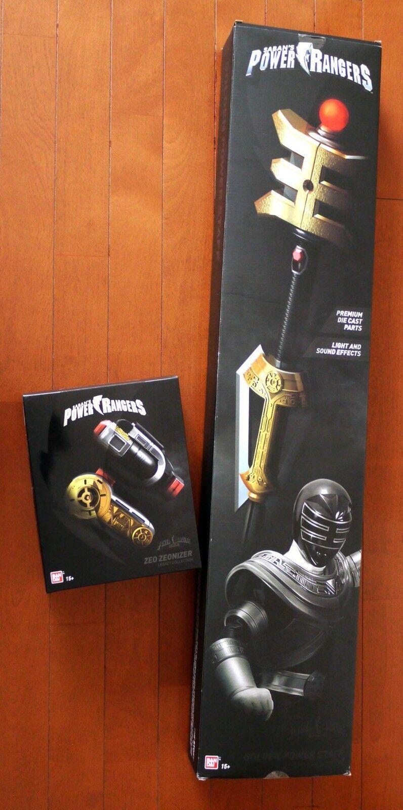 Power Rangers ZEO Legacy Zeoniser Morpher - Gold Ranger staff bundle lot  mmpr