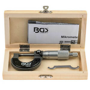 Mikrometer-0-25-mm-Messschraube-Messwerkzeug-Buegelmessschraube-0-01-mm-Werkzeug