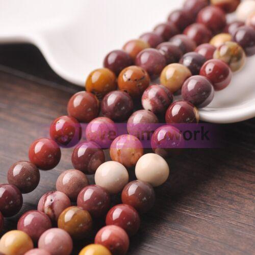 Bulk Wholesale 4//6//8//10mm Round Natural Stone Gemstone Loose Spacer Beads Crafts