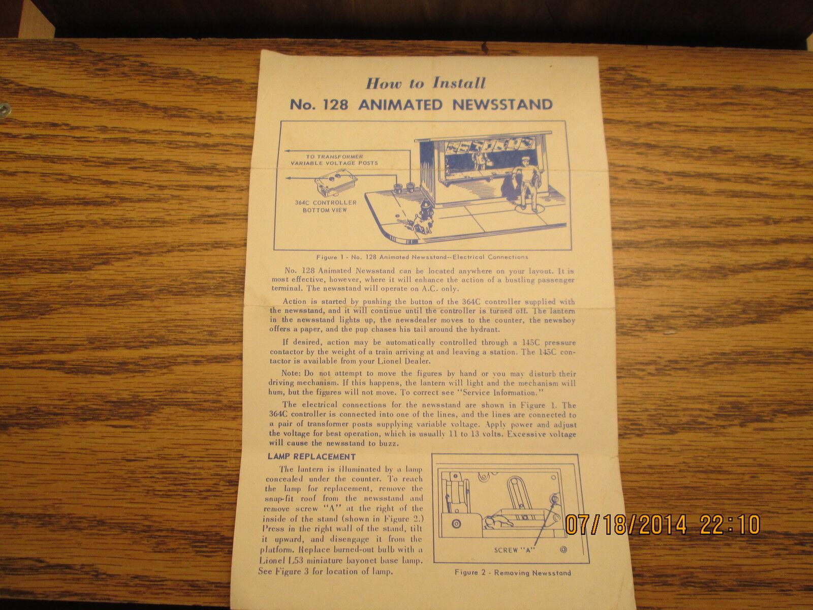 Lionel 128 Animated Animated Animated News Stand eefc0e