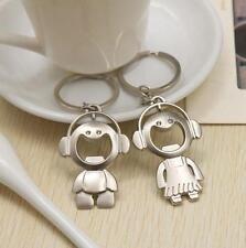 Couple Key Chain Ring Boy & Girl Keychain Couples Keyring Set Bottle Opener