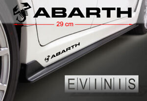 FIAT-ABARTH-2x-Side-Stickers-Car-Decals-Graphics-DEFAULT-BLACK-left-and-right
