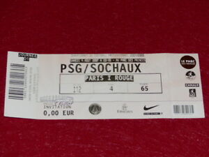 COLLECTION-SPORT-FOOTBALL-TICKET-PSG-SOCHAUX-4-AOUT-2007-Champ-France
