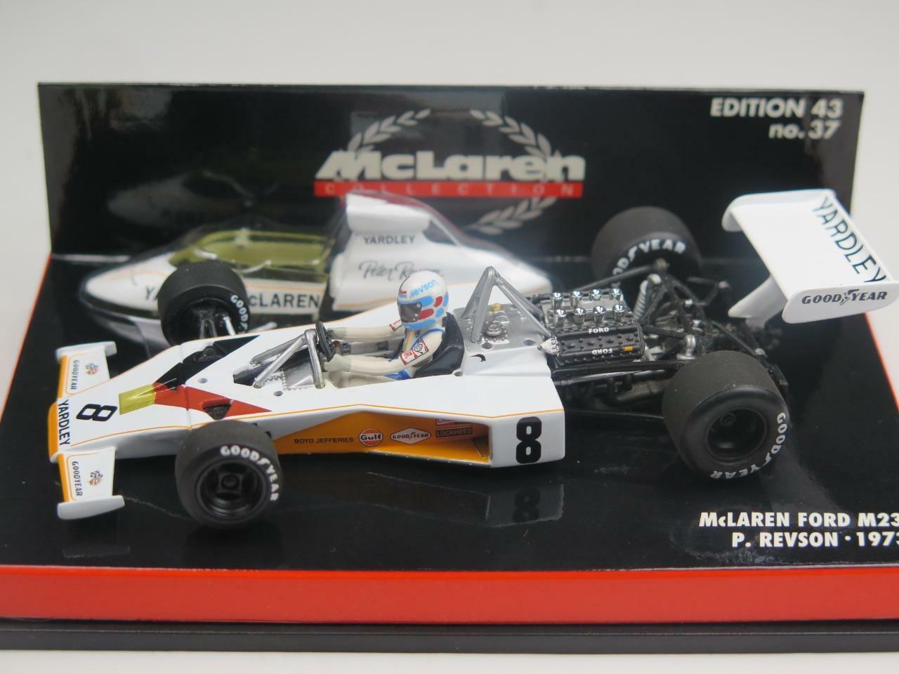 outlet Minichamps 1 43 43 43 FORMULA 1 Yardley McLaren M23 Nuovo di zecca Peter Revson 1973  consegna rapida
