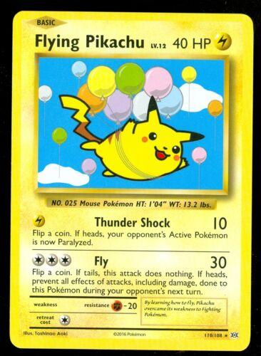 XY Evolutions MINT Pokemon FLYING PIKACHU 110//108 SECRET RARE