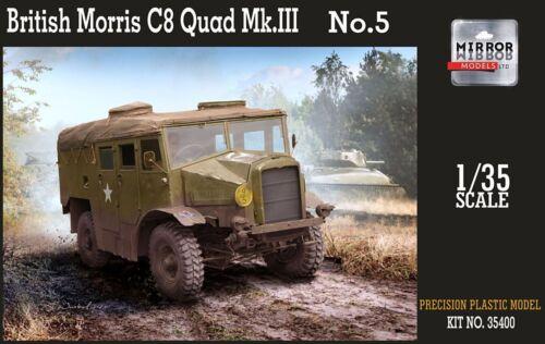 MIRROR Model #35400 1/35 WWII BRITISH MORRIS C8 QUAD MK III NO.5