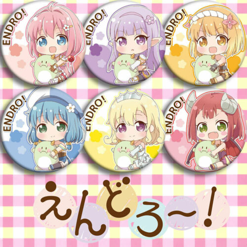 6pcs Anime Endro~ Yuria Elnowar Cute Party Pin Badge Button Brooch Otaku Gift