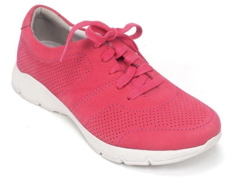 Dansko Womens Alissa Fashion Fashion Fashion lace Sneaker Raspberry Milled Nubuck 39 8.5-9 New 85691d
