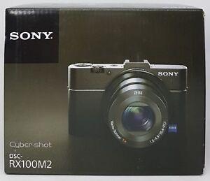 Sony-DSC-RX100-M2-Cyber-Shot-Digital-Camara-Compacta-Negro-Nuevo-amp-Emb-orig