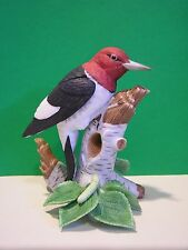LENOX RED HEADED WOODPECKER Garden Bird  NEW in Box with COA