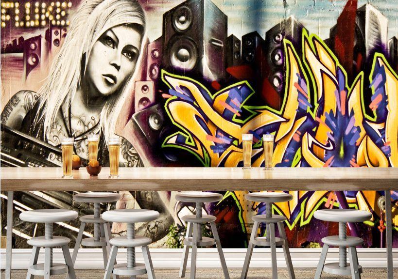 3D Music star girl 544 Paper Wall Print Decal Wall Wall Murals AJ WALLPAPER GB