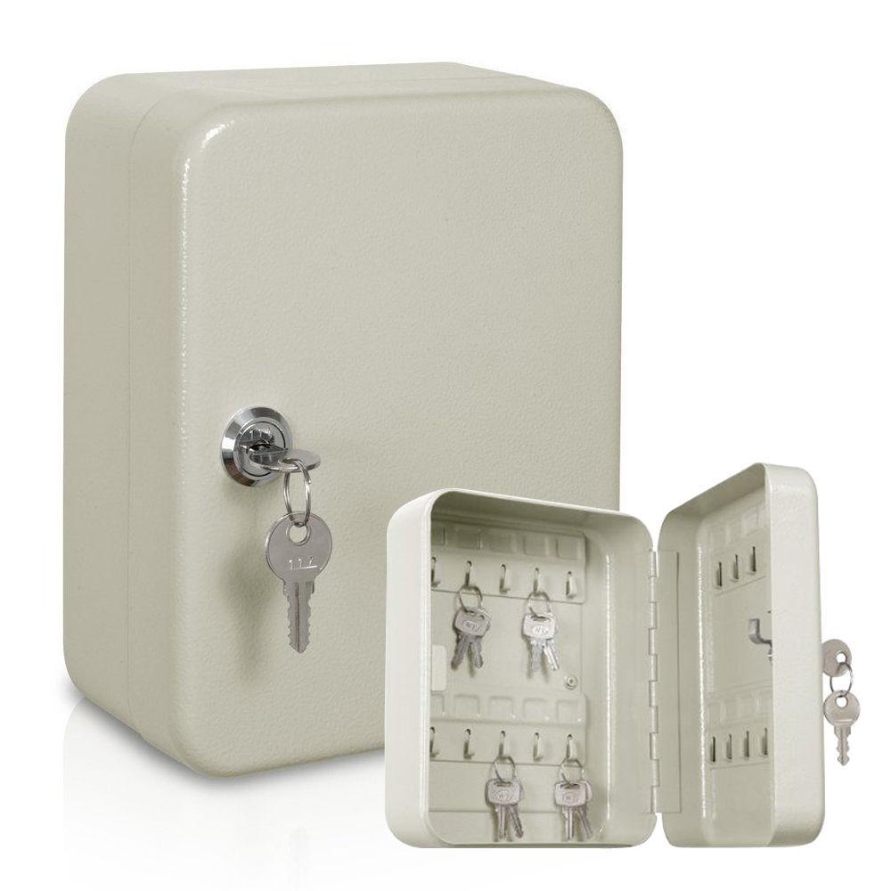 Nuevo 20 Gancho Acero montado en la parojo Caja de seguridad de bloqueo con llave clave del gabinete