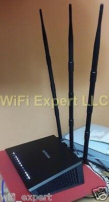 3 12dBi RP-SMA WiFi Antennas for Netgear R7000 and Asus RT-N16 RT-N66U RT-AC66U