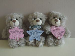 personalised bridesmaid pageboy flower girl gift teddy with
