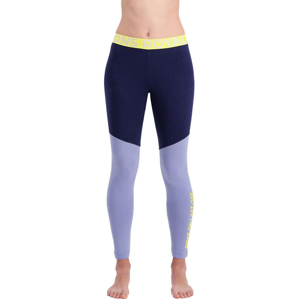 Mons Royale da donna CHRISTY Leggings Pantaloni Pants PantaloniBlu Navy Sport