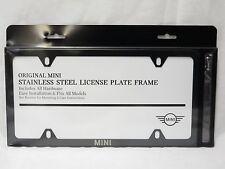 oem mini cooper laser slimline black steel license plate frame 82122365009 - Mini Cooper License Plate Frame