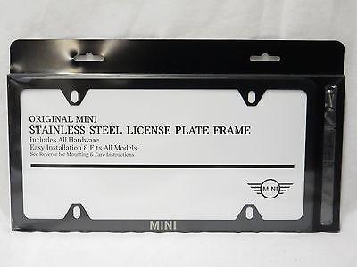 Mercedes-Benz Genuine BLACK Stainless Steel Slimline Laser License Plate Frame