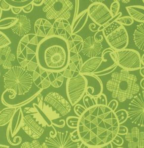 Erin McMorris Highline Chelsea Fabric in Leaf PWEM076 100/% Cotton