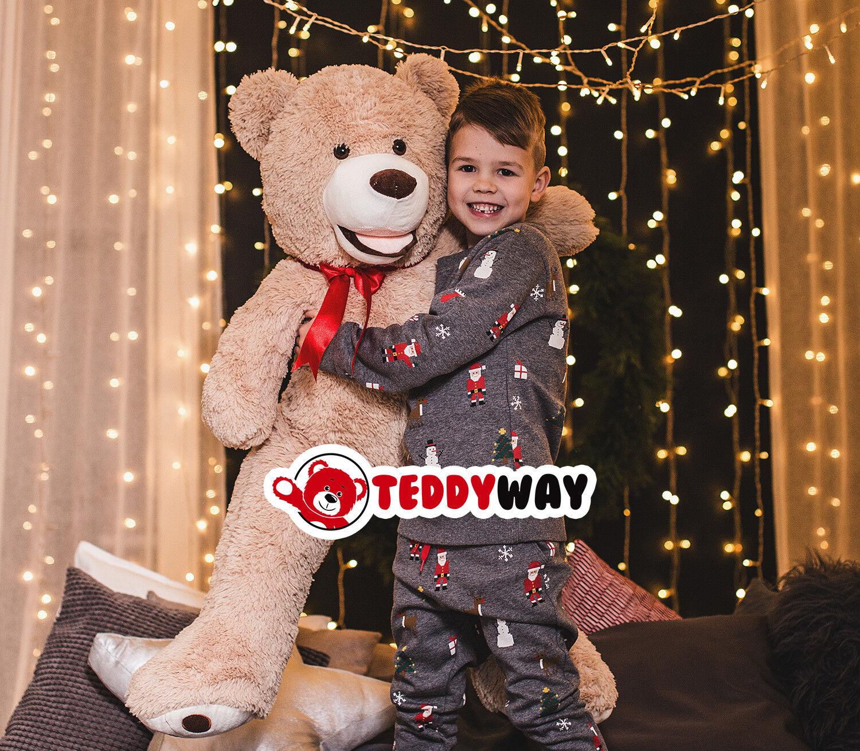 REGALO di Natale per bambini-gigante TEDDY ORSO GRANDE XXL Kuschelbär riempito