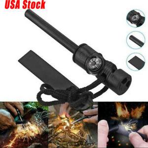 Fire Starter Flint Steel Striker Ferro Rod Firesteel Camping Lighter Waterproof