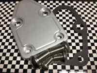 Sbc Chevy Fuel Pump Block Off Plate Kit Clear Cnc Aluminum