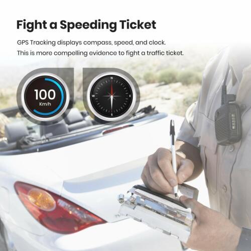 FHD Dashcam Auto Vorne und Hinten mit eingebautem GPS Autokamera IR Nachtsicht