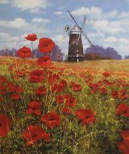"""MAKINSON """"Summer's Reward"""" windmill poppies SGD LTD ED! SIZE:41cm x 35cm NEW"""