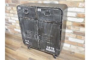 Industrial-Style-Rustic-Metal-Cabinet-Storage-Unit-Small-Sideboard-Retro