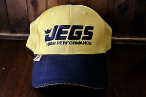 JEGS-HIGH-PERFORMANCE-Yellow-amp-Black-Baseball-Cap-Hat-Adjustable-Strapback-NEW